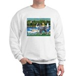 PS G. Schnauzer & Sailboats Sweatshirt