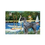 PS G. Schnauzer & Sailboats Rectangle Magnet