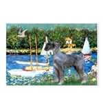 PS G. Schnauzer & Sailboats Postcards (Package of