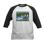 PS G. Schnauzer & Sailboats Kids Baseball Jersey