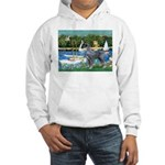 PS G. Schnauzer & Sailboats Hooded Sweatshirt