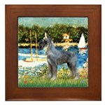 PS G. Schnauzer & Sailboats Framed Tile