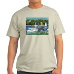 PS G. Schnauzer & Sailboats Light T-Shirt