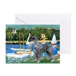 PS G. Schnauzer & Sailboats Greeting Cards (Pk of