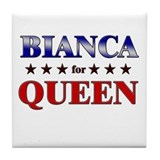 BIANCA for queen Tile Coaster