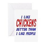I Like Chickens Greeting Cards (Pk of 10)