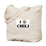 Chili paw hearts Tote Bag