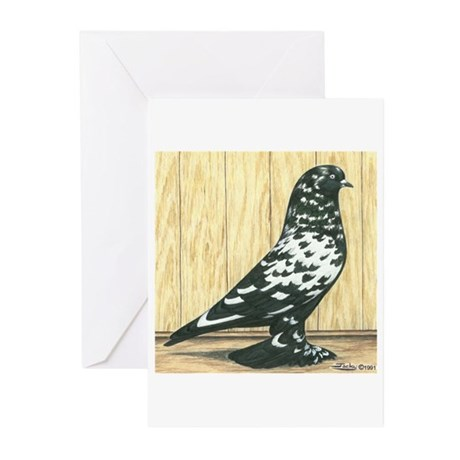 Black Mottle West Greeting Cards (Pk of 10)