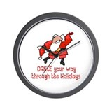 Dancing Santa Wall Clock