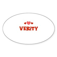 Verity Oval Decal