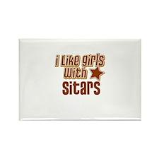 I Like Girls with Sitars Rectangle Magnet