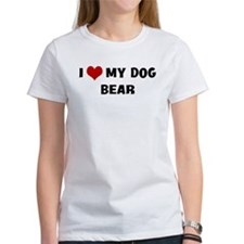 I Love My Dog Bear Tee