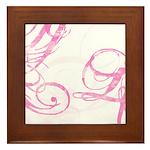 pink swish Framed Tile