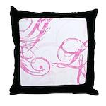 pink swish Throw Pillow
