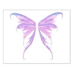 blue/ purple wings Posters
