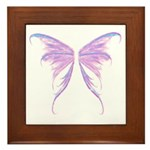 blue/ purple wings Framed Tile