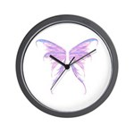 blue/ purple wings Wall Clock