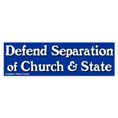 Church and State Bumper Sticker