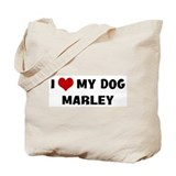 I Love My Dog Marley Tote Bag