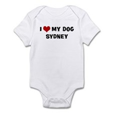 I Love My Dog Sydney Onesie