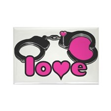 Love Cuffs Rectangle Magnet