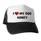 I Love My Dog Honey Hat