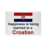 Happily Married To Croatian Rectangle Magnet