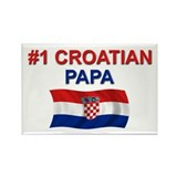 #1 Croatian Papa Rectangle Magnet