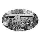 Cannon Ft Woodbury 1863 Oval Bumper Stickers