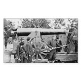 Cannon Ft Woodbury 1863 Rectangle Decal
