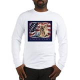 Yorkshire Terrier Dog US Flag Long Sleeve T-Shirt