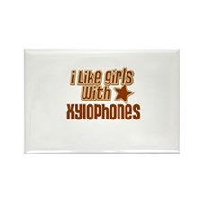 I Like Girls with Xylophones Rectangle Magnet (10