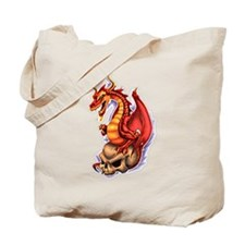 Cute Dragon skull Tote Bag