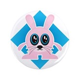 "Hypnotic Bunny 3.5"" Button"