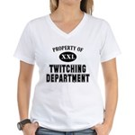 Property of Twitching Dept Women's V-Neck T-Shirt