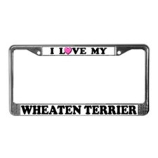 I Love My Wheaten Terrier License Plate Frame
