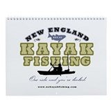 New England Kayak Fishing Wall Calendar