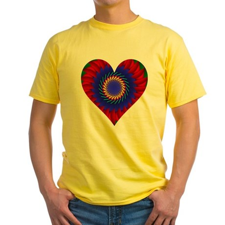 Kaleidoscope Heart Yellow T-Shirt