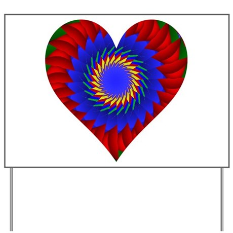 Kaleidoscope Heart Yard Sign