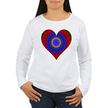 Kaleidoscope Heart Women's Long Sleeve T-Shirt