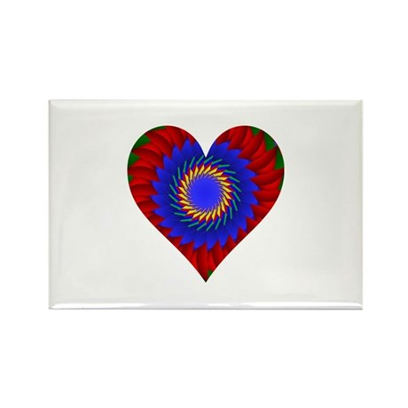 Kaleidoscope Heart Rectangle Magnet (10 pack)