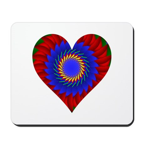 Kaleidoscope Heart Mousepad