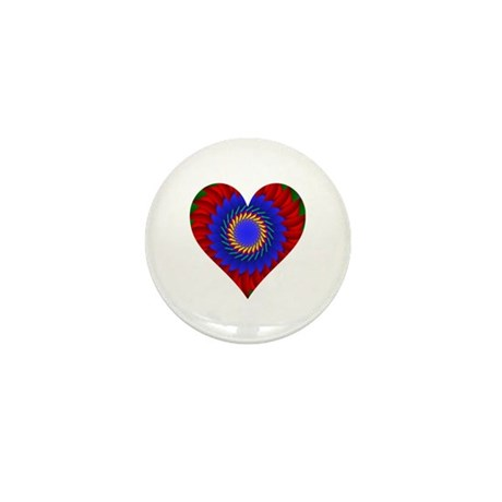 Kaleidoscope Heart Mini Button