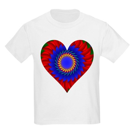 Kaleidoscope Heart Kids Light T-Shirt