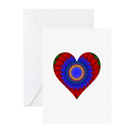 Kaleidoscope Heart Greeting Cards (Pk of 10)