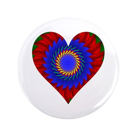"Kaleidoscope Heart 3.5"" Button (100 pack)"
