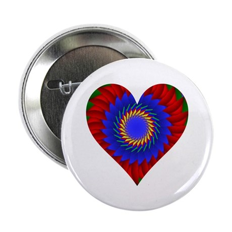 "Kaleidoscope Heart 2.25"" Button (10 pack)"