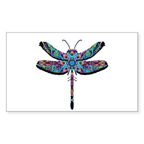 Dragonfly Rectangle Sticker