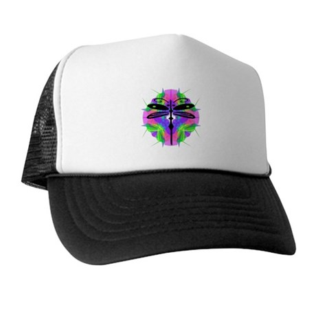 Kaleidoscope Dragonfly Trucker Hat