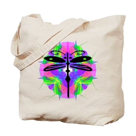 Kaleidoscope Dragonfly Tote Bag